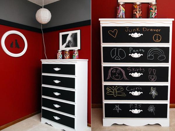 Черно-белая мебель своими руками