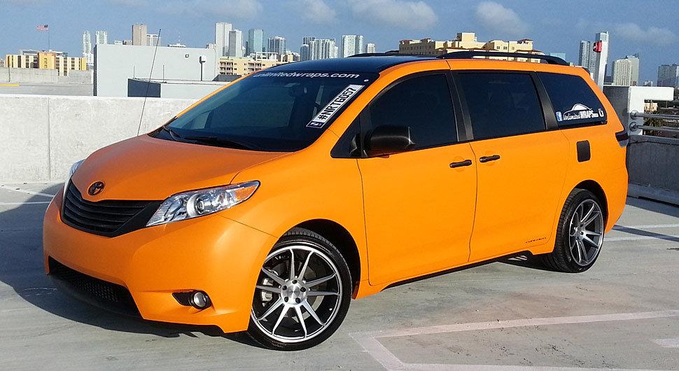 Miami Car Wraps Matte Wraps Carbon Fiber Vinyl Wrap Custom Wraps 3m Matte Orange Vehicle