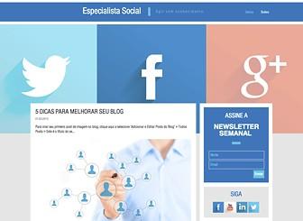 Blog de Mídia Social Template - Torne-se um criador de tendências com este template espetacular de mídia social. O layout atraente permite que você crie um blog profissional e envolvente. Basta clicar para editar cada post e veja seu blog se tornar uma grande fonte de sucesso!