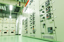 Electrical switch gear substation in a p