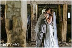 Photo underneath the barn