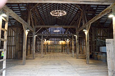 Inside lighting of the barn