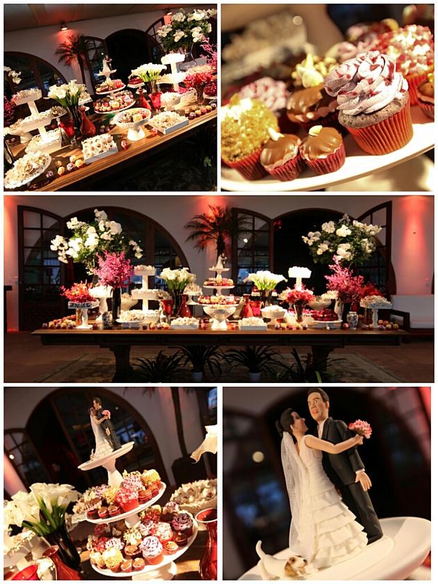 Mesa de doces casamento cup cakes