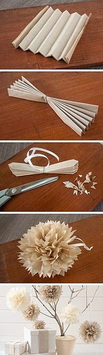 como usar o pompom de papel nas festas