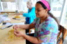 grandmother/granddaughter pasta team