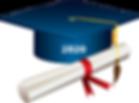 2020 Graduation hat and diploma.png