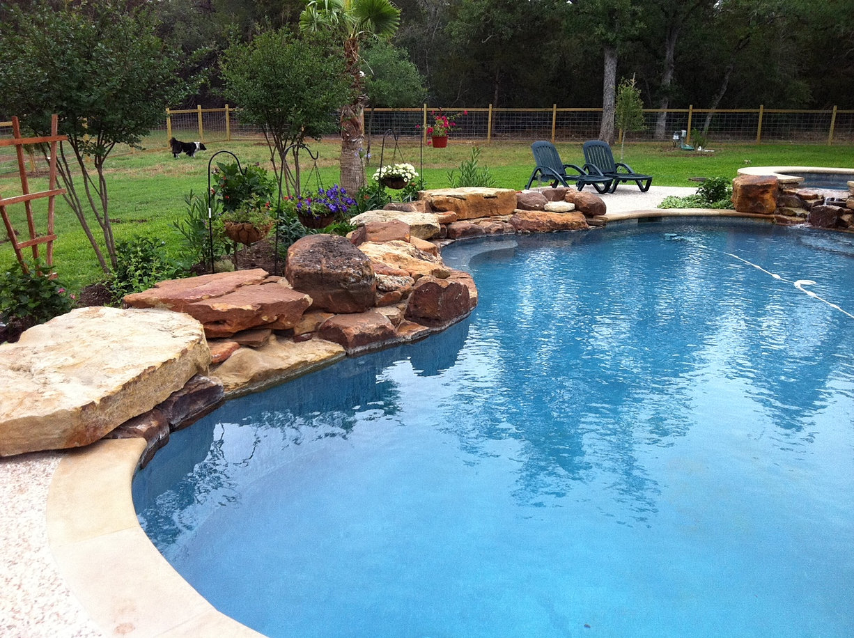 freeform or natural shaped pools provide a natural relaxed look perfect for small spaces and to maximize pool area freeform pools are a natural choice