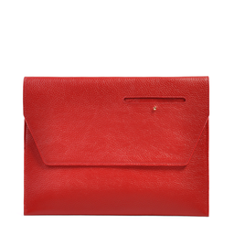 Eddie Handmade: Dorset Document Case in Red - Large | Bags,Bags > Briefcases -  Hiphunters Shop
