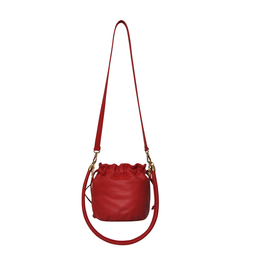 Eddie Handmade: Anna Mini Bucket in Red | Bags -  Hiphunters Shop