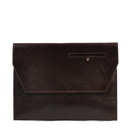 Eddie Handmade: Dorset Document Case in Chocolate Brown - Large | Bags,Bags > Briefcases -  Hiphunters Shop