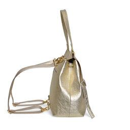Eddie Handmade: HIGHCLERE Backpack in Metallic Gold | Bags -  Hiphunters Shop