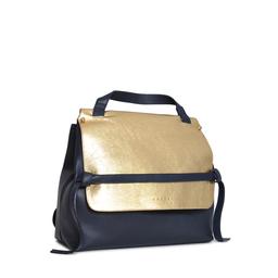 Eddie Handmade: HIGHCLERE Backpack in Metallic Gold & Navy | Bags -  Hiphunters Shop