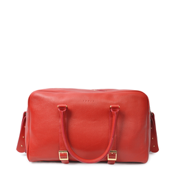 Eddie Handmade: Bader Holdall in Red - Medium | Bags,Bags > Travel Bags -  Hiphunters Shop