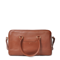 Eddie Handmade: Bader Holdall Textured Brown - Medium - Hiphunters Shop