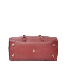 Eddie Handmade: Bader Holdall in Burgundy - Medium | Bags,Bags > Travel Bags -  Hiphunters Shop