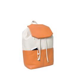 Eddie Handmade: Caxton Backpack in Ivory & Orange | Bags -  Hiphunters Shop
