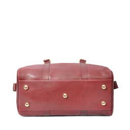 Eddie Handmade: Bader Holdall in Burgundy - Small | Bags,Bags > Travel Bags -  Hiphunters Shop