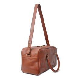 Eddie Handmade: Bader Holdall in Textured Brown - Small | Bags,Bags > Travel Bags -  Hiphunters Shop