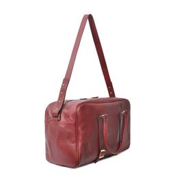Eddie Handmade: Bader Holdall in Burgundy - Medium | Bags,Bags > Travel Bags -  Hiphunters Shop
