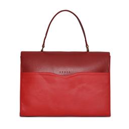 Eddie Handmade: VITA Briefcase in Due Red | Bags -  Hiphunters Shop