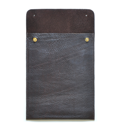 Eddie Handmade: TC13 Mini Tablet Case in Chocolate Brown | Accessories,Accessories > Technology -  Hiphunters Shop