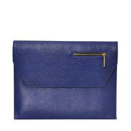Eddie Handmade: Dorset Document Case in Navy | Bags,Bags > Briefcases -  Hiphunters Shop