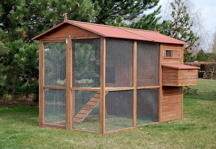 grand poulailler bois pour 8 12 poules. Black Bedroom Furniture Sets. Home Design Ideas