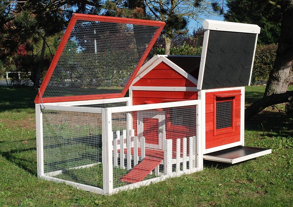n 1 du poulailler en bois clapier enclos lapin niche chien. Black Bedroom Furniture Sets. Home Design Ideas
