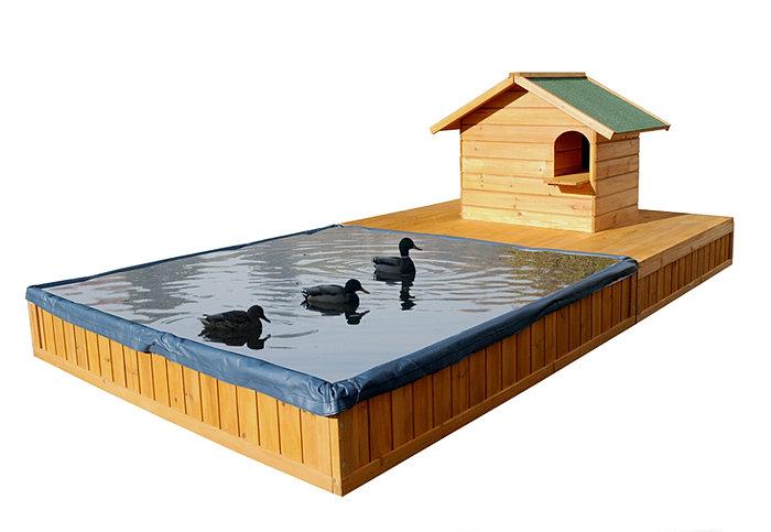 Habitat bassin et nichoir pour canards - Bassin canard d ornement pau ...