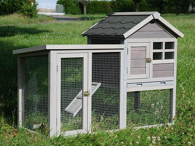 cage clapier pour lapin et cochon d inde en bois et toit goudronn 233