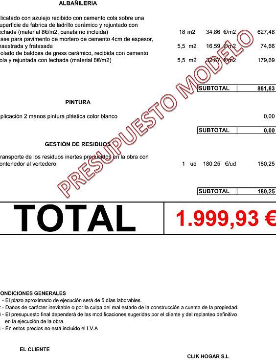 Presupuesto para cocina for Presupuestos cocinas