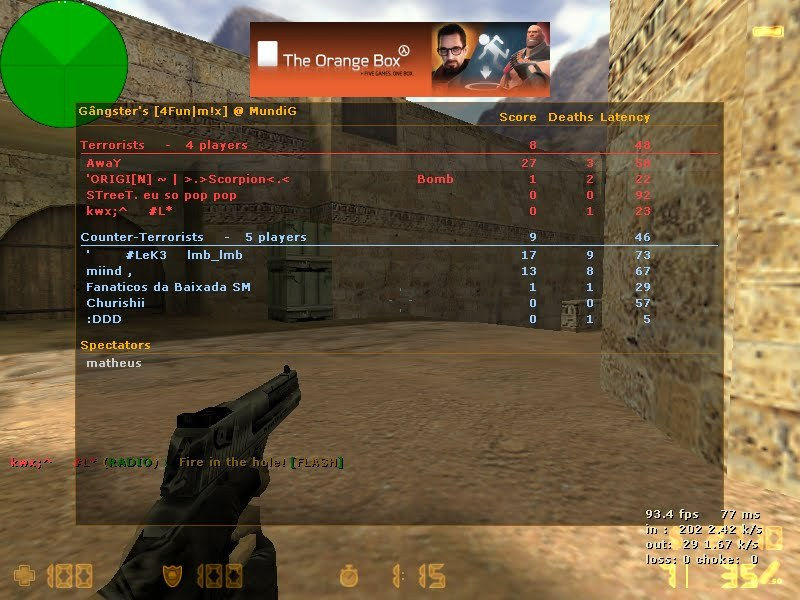 how to create server in counter strike 1.6 using wifi