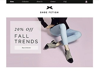 Women's Shoes Template - These shoes are made for selling, and that's just what you'll do. This crisp, sophisticated template lets your styles take center stage. Upload photos, add descriptions, and watch your products fly off the web!