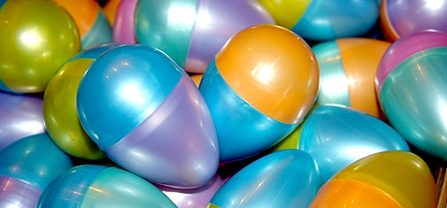 Filled Plastic Easter eggs plastic eggs