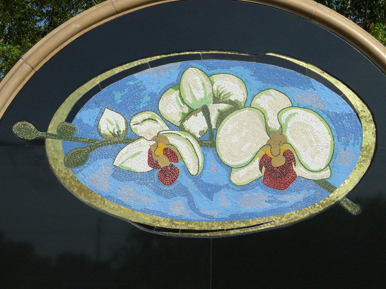 orchids (glass gold mosaic)