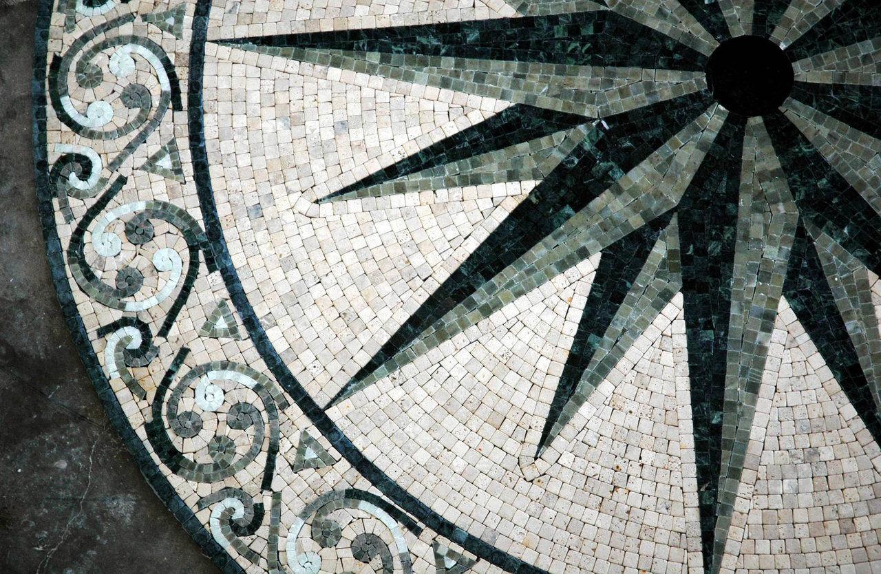 Ocean (marble mosaic)