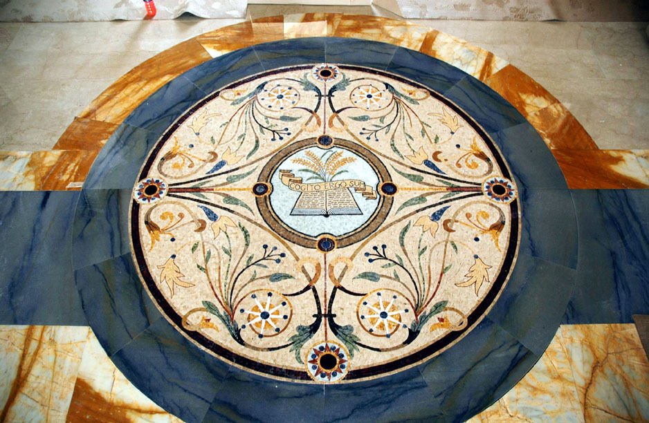 Cartesio (marble mosaic )