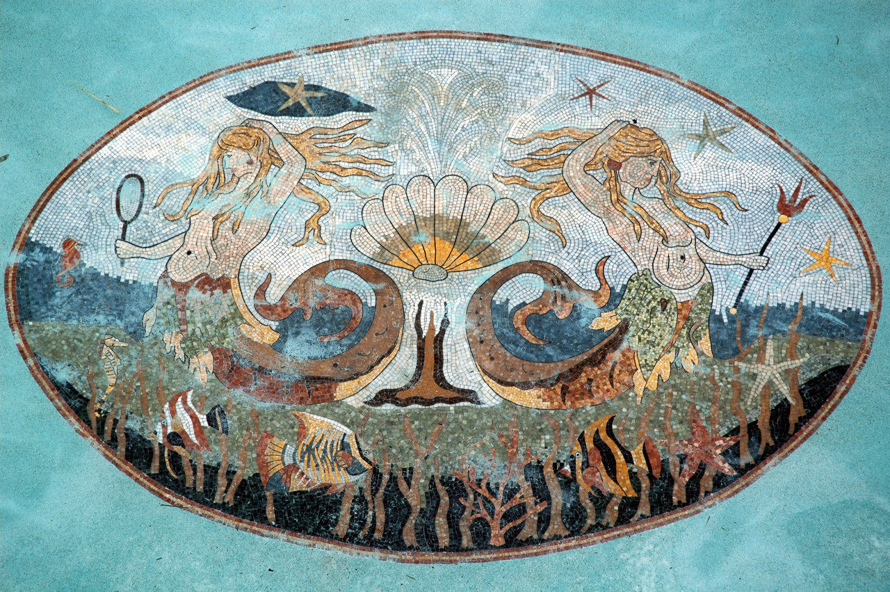 mermaids (marble pool mosaic)