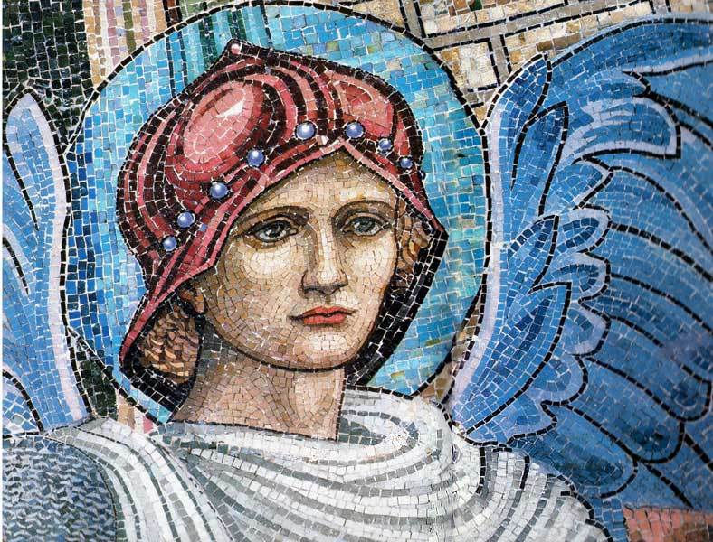 Blue Angel (glass mosaic)