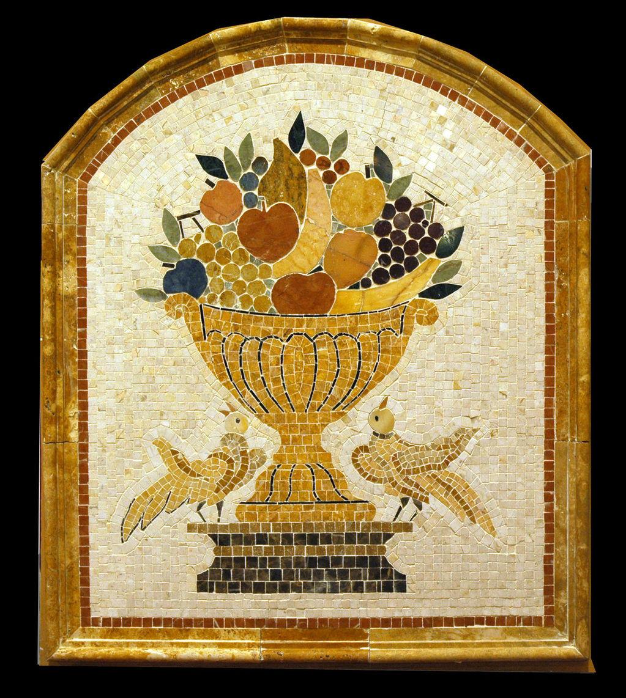joy (marble mosaic backsplash)