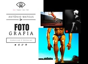 Fotógrafo Publicitário Template - Com pouco texto e um layout despojado, este template foca no seu trabalho criativo. Faça upload de imagens e vídeos para mostrar seu portfolio completo e personalize a biografia para contar a sua história.