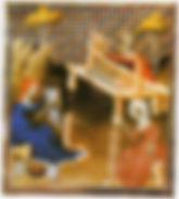 """""""Cardage, filage et tissage"""", Illustration tirée de Boccace."""
