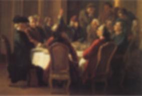 """Huber, """"Un dîner de philosophes"""", vers 1772"""