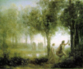 """Corot, """"Orphée ramenant Eurydice des enfers"""", 1861."""