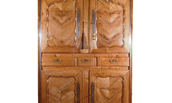 Fruitwood Dome Top Armoire