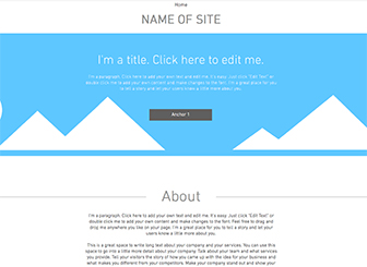 One Page Layout Template - Make your website yours with this start-from-scratch single-page layout. Choose fonts, colors, and background design, and add texts and photos to make the website you've been dreaming of. Get online today!