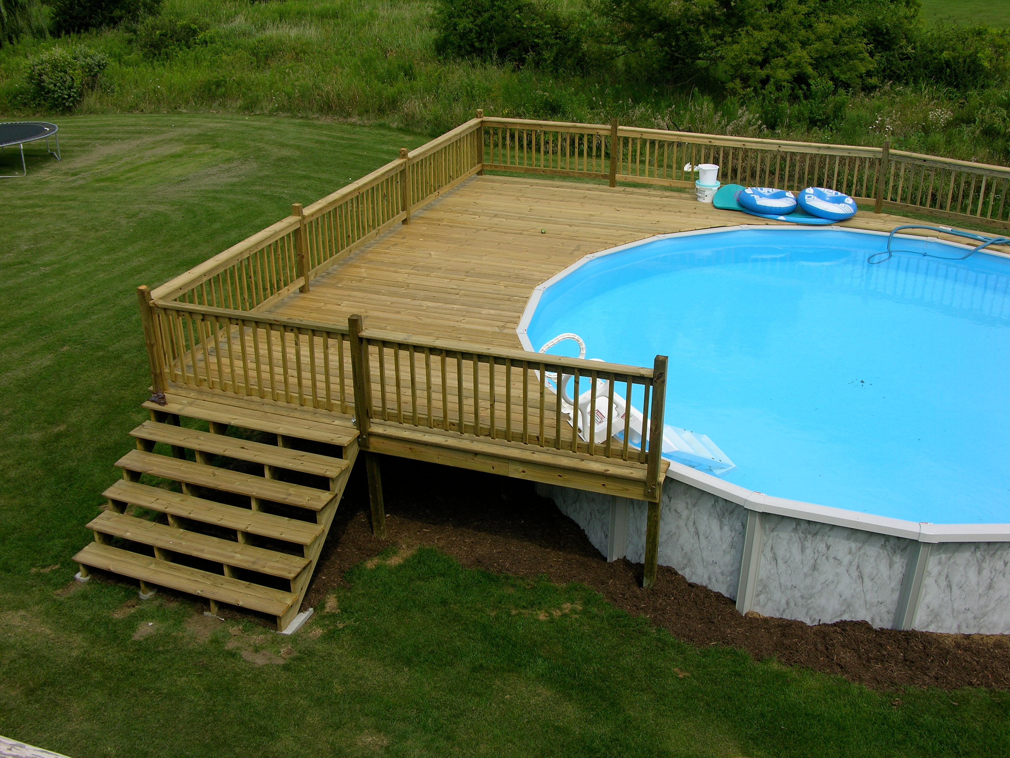 How to build a deck around an above ground pool with ask for How to build a deck around a pool