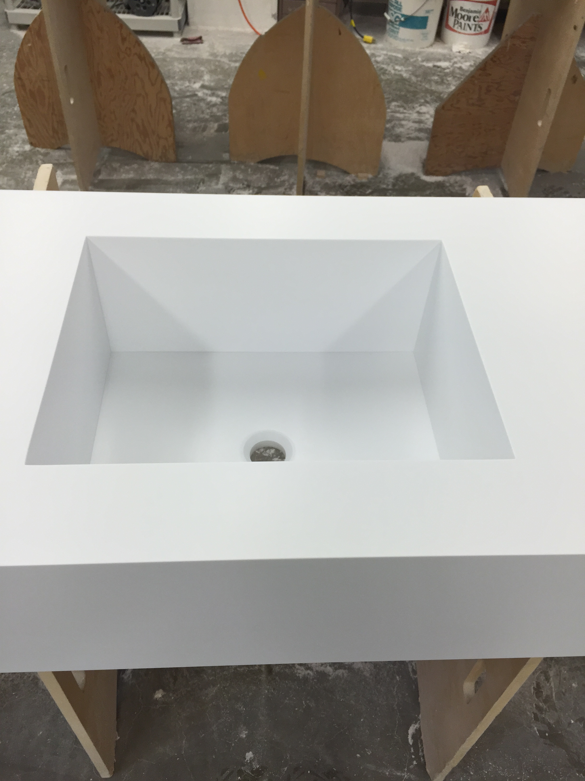 Photos Above Are Of A Custom Corian Sink And Vanity Top In The Color  Designer White By Countertops By Starian.