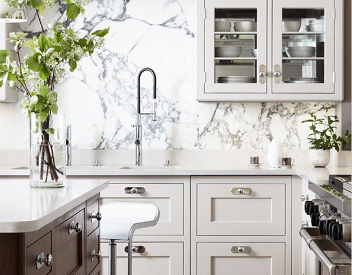 Best Countertop For Marble Backsplash | Primastone.ca/luxury Marble Veneer/ Marble Panel