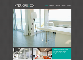 Interiors & Co Template - Crafted with architects, realtors, and interior designers in mind, this free template features a cool color scheme and minimal design. Upload images to create an elegant photo gallery of your projects. Start editing to build your online presence!